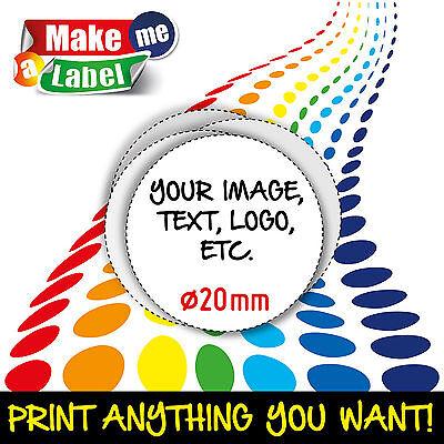 Circular Self Adhesive & Custom Printed Full Colour Sticky Labels Coloured Self Adhesive Labels