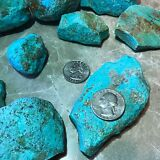 Kingman Arizona Turquoise Rough - 1/2 Pound Lots - Very High Quality