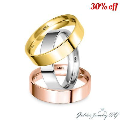 - SOLID 10K WHITE YELLOW ROSE GOLD FLAT COMFORT FIT WEDDING BAND MENS WOMEN