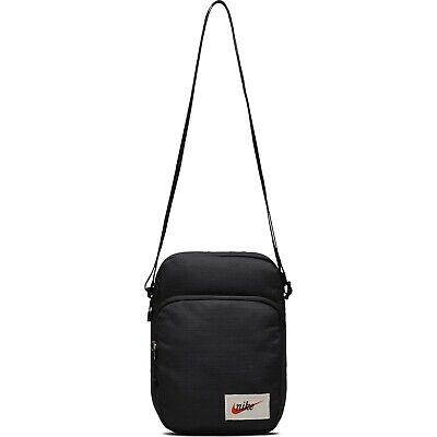 Nike Heritage Mini Bag Unisex Organizer Small Items Sports Shoulder Sack Black M