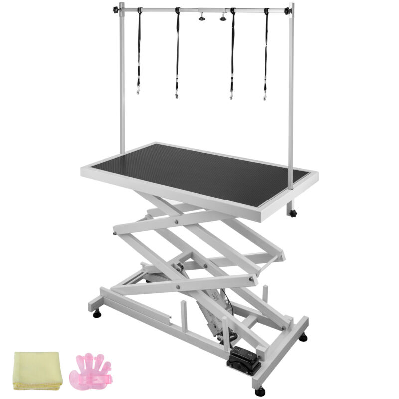 Electric Lifting Pet Dog Grooming Table 440Lbs Shower 6000N linear Large Pet🐕🐈
