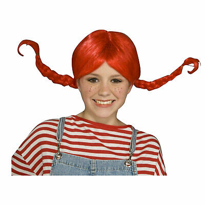 RAG DOLL Braids Pigtails Adult Womens Costume Fire Red