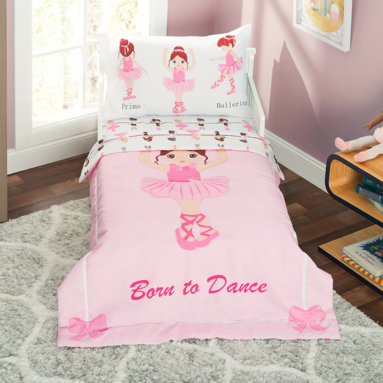Everyday Kids Ballerina Toddler Bedding Set