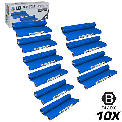 Compatible Brother PC402 Set of 10 Thermal Fax Ribbon Refill Rolls Compatible Black Ribbon Refill Rolls
