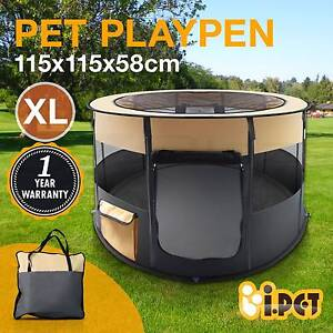 Pet Soft Playpen Dog Cat Puppy Play Large Round Crate Cage Tent Sydney City Inner Sydney Preview
