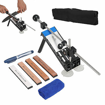 Knife Sharpener Kitchen Sharpening System Professional Fix Angle with 4 Stones