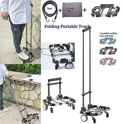 A4 Size Compact Folding Aluminium Hand Truck Trolley Luggage Cart Foldable Wheel