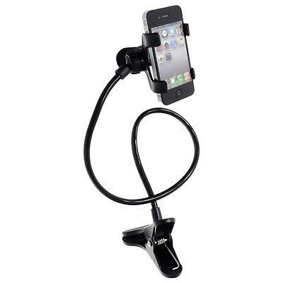 360° drehbare Smartphone Handy Betthalterung Tischhalter mit Schwanenhals Klemme