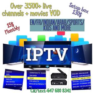 Iptv service,  15$ monthly only
