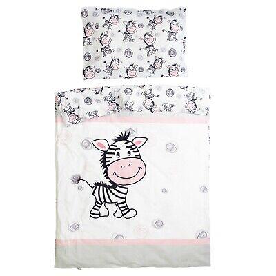 Zebra Pati'Chou baby 100% cotton cot / crib duvet cover set