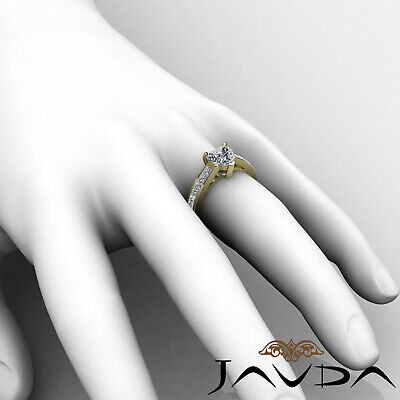 4 Prong Channel Setting Womens Heart Cut Diamond Engagement Ring GIA F VS2 1.5Ct 8