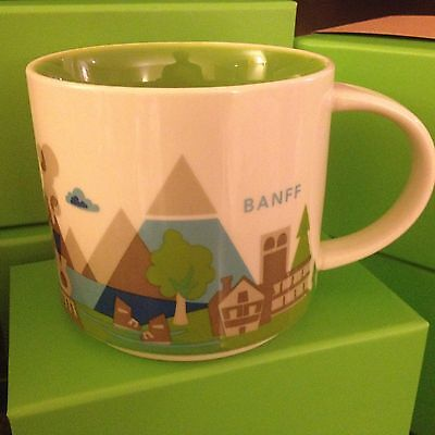 Starbucks Banff YAH Coffee Mug 14 fl oz NEW Classic you Are Here Collection
