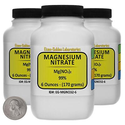 Magnesium Nitrate Mgno32 99 Usp Food Grade Powder 1.1 Lb In Three Bottles