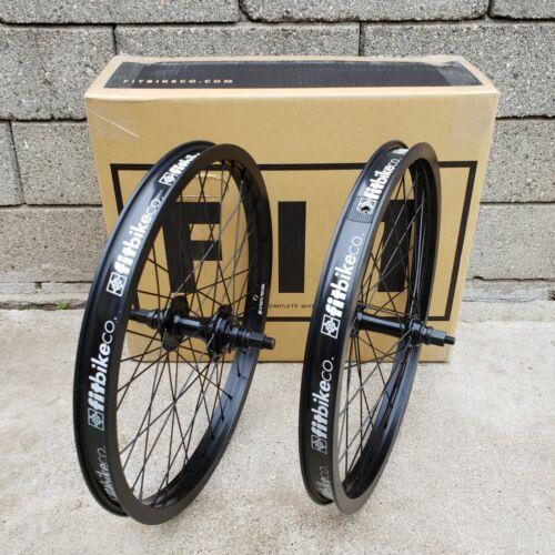 "FIT BIKE CO BMX CASSETTE 20"" BLACK WHEELSET BMX BIKE BICYCLE WHEELS CULT RANT"
