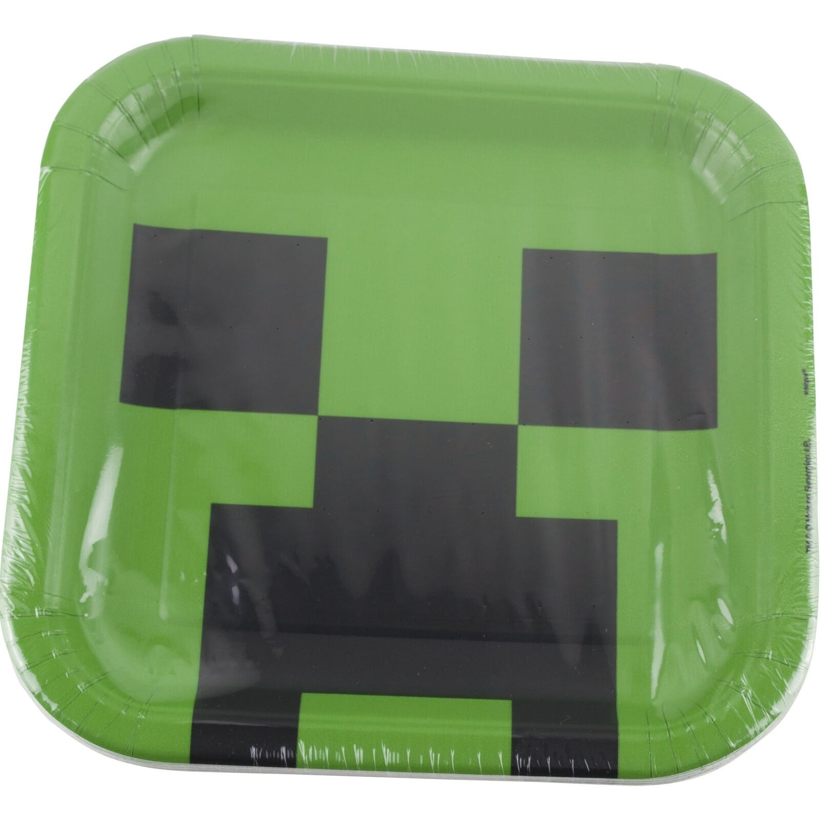Minecraft Birthday Party Supplies 8 Large Cake Food Plates