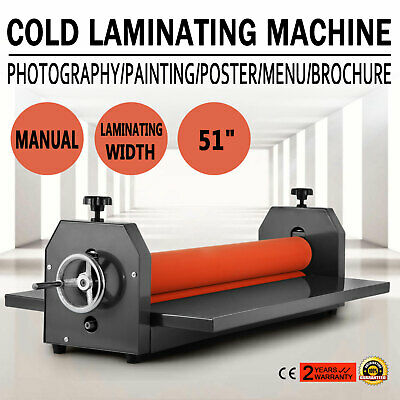 51in Cold Laminator Manual Roll Laminator Vinyl Film Laminating Machine