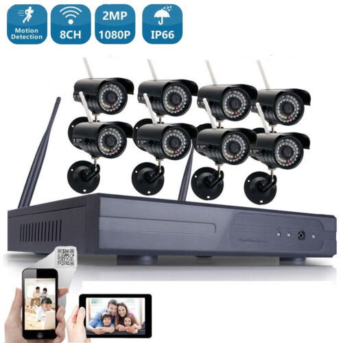 Wireless WIFI 1080P Security Camera 8CH System HDMI Home Out