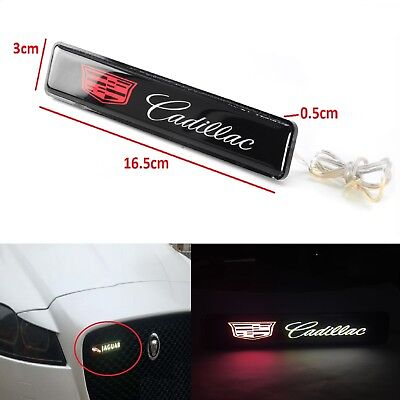 (Cadillac Logo LED Light Car Front Grille Badge Illuminated Decal Sticker )
