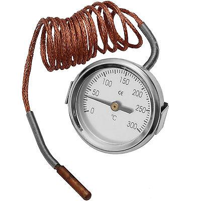 0-300° Thermometer 150cm Sensorkabel Temperaturanzeige Maschine Motor Pizzaofen