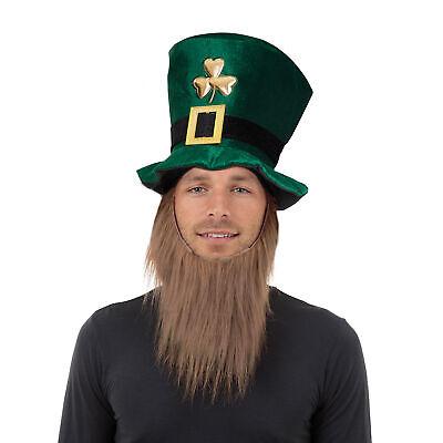 Erwachsene st Patricks Irland Kleeblatt samt Hut mit - Kobold Erwachsene Hut Mit Bart