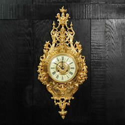 Japy Freres Antique French Baroque Cartel Wall Clock