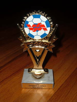 Voorhees New Jersey Soccer trophy White Carrara Italian marble base Seahawks NJ