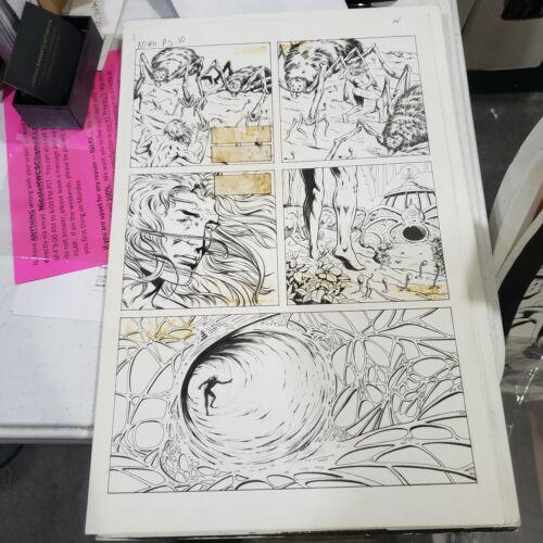 X-O MANOWAR # 11 P 10. original inked art Valiant (vol 1)