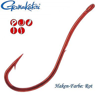Öhrhaken Rot Gr Gamakatsu LS-3113R Haken 2 Wurmhaken zum Aal- /& Meeresangeln