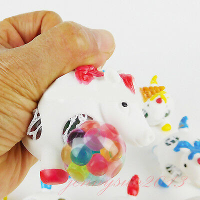 Squishy Gel Bead Filled UNICORN Squeeze Stress Ball Kids Autism Fidget Therapy - Squishy Ball