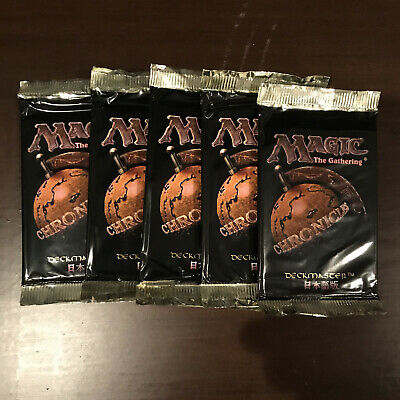 5x Magic the Gathering Chronicles Booster Pack - MTG - SEALED - FBB Japanese