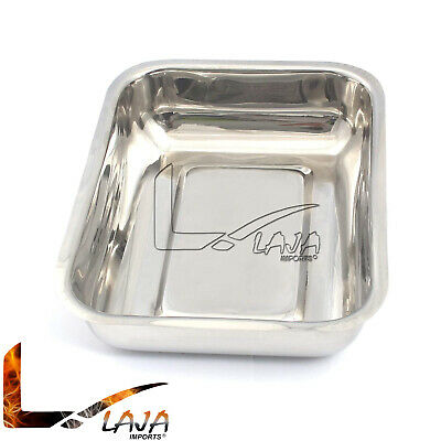 Stainless Steel Instrument Tray 8-78 X 5 X 2 Medical Dental Without Cover
