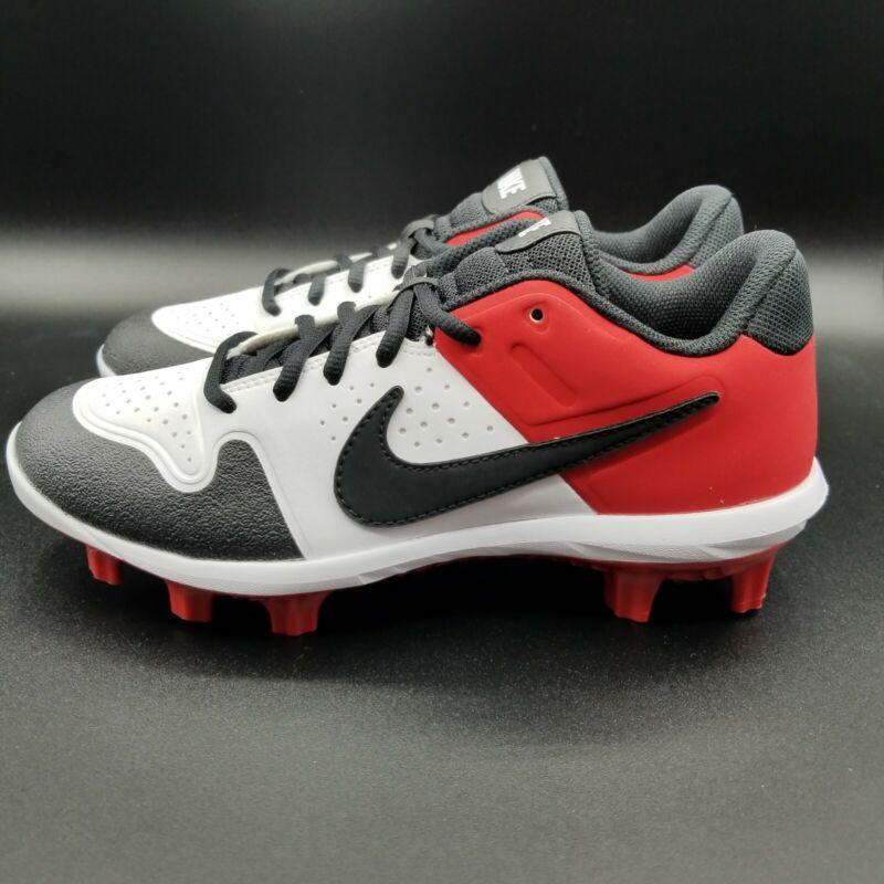 Nike Alpha Huarache Varsity Baseball Cleats Size:6 Youth AO7583-106 Blk/Red/Whi