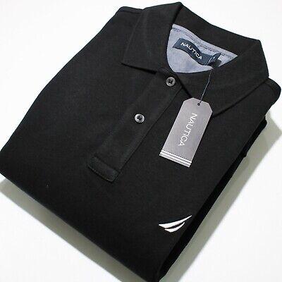 Nautica Men's Short Sleeve Black Polo Shirt | NWT