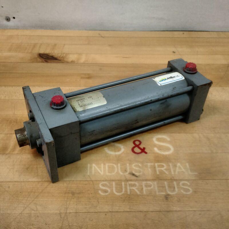 "Miller Fluid Power A61B4N Pneumatic Cylinder, 2-1/2"" Bore, 6"" Stroke, 250 PSI"