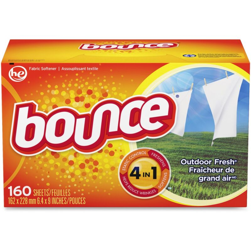 Procter & Gamble Bounce Dryer Sheets 160/BX Outdoor Fresh 80168BX