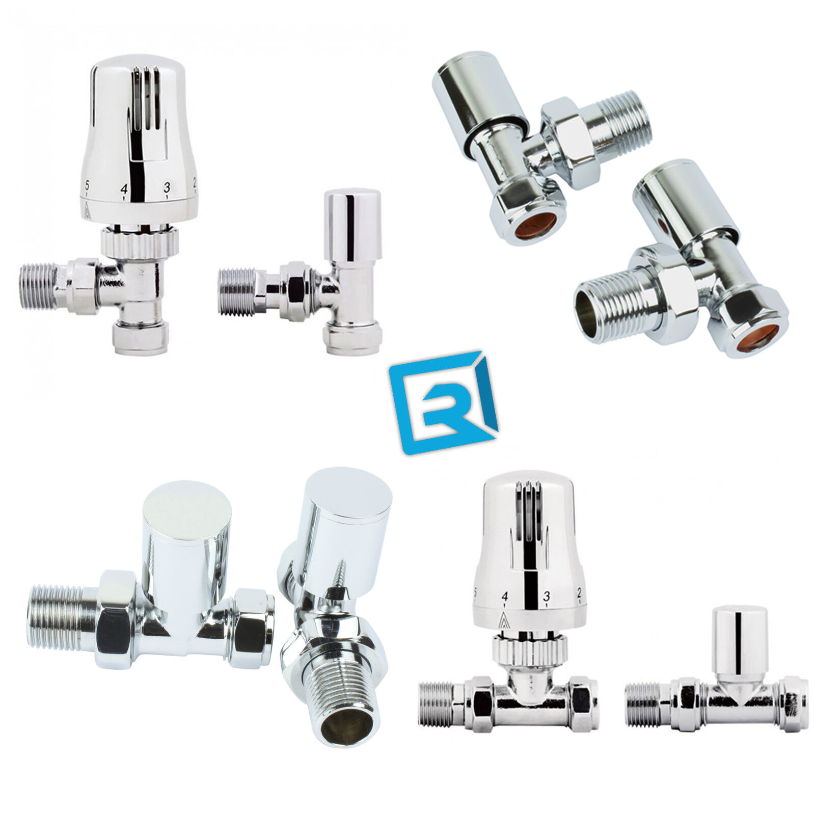 Traditional angle  Valves for towel warmers radiator Central Heating