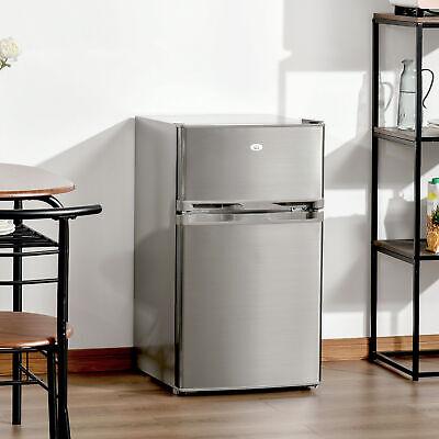 Compact Refrigerator 3 Cu Ft Mini Fridge w/ 2 Doors Removabl