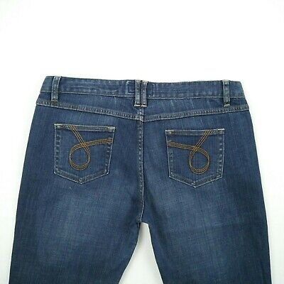 JAG 'East End Crop' Blue Straight Stretch Jeans Women's Size 16 W35 - #JP41141