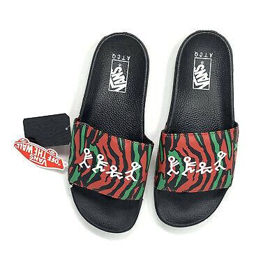 Vans A Tribe Called Quest Slides Sandals Men's 10 Shoes New Red Black ATCQ