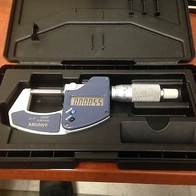 Mitutoyo Digimatic Micrometer Inchmetric 0-10-25.4mm W Ratchet Stop