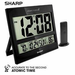 Sharp Atomic Clock - Atomic Accuracy - Never Needs Setting - Jumbo 3 Easy to...