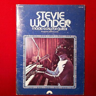 Stevie Wonder, Songbook , made easy for guitar, PO185EGX aus dem Jahr 1976