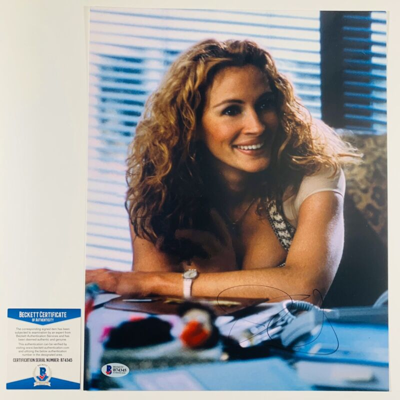 JULIA ROBERTS SIGNED ERIN BROCKOVICH 11x14 PHOTO AUTHENTIC BAS COA #B74345