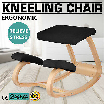 Adjustable Bentwood Ergonomic Kneeling Chair Stool In Fabirc Balance Body Pro