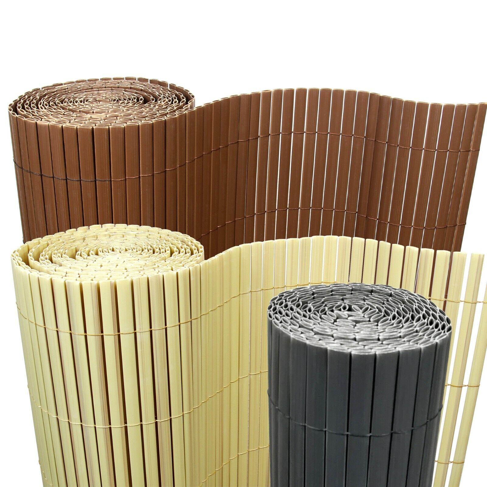 8m Bambus Pvc Sichtschutzmatte Sichtschutz Zaun