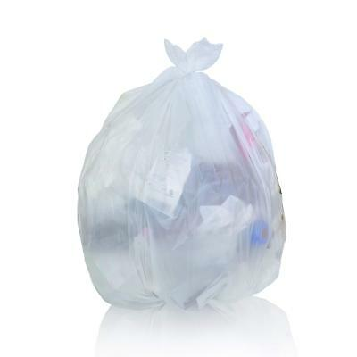 Toughbag Trash Bags 33x39 33 Gal 100/case Garbage Bags 1.2 Mil (Clear)