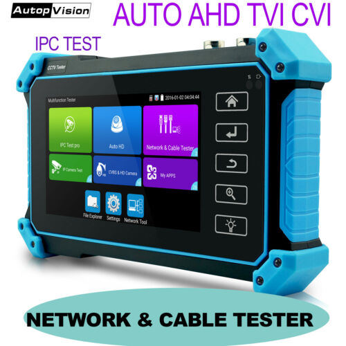 4 IN 1 8MP 4MP AHD TVI CVI CVBS IP CCTV Security Camera IPC Tester 5Inch Monitor