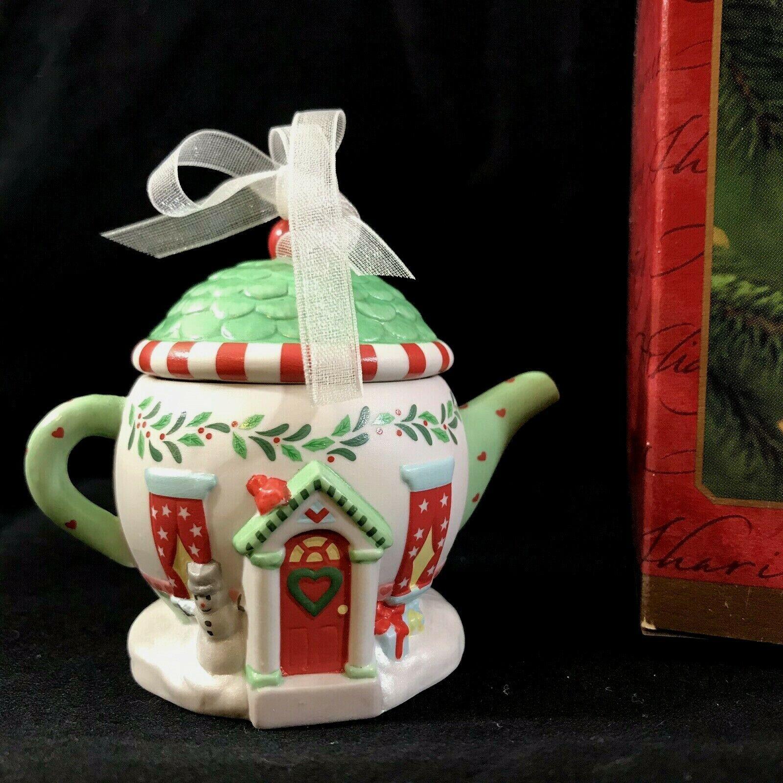 Cozy Home Tea Pot Hallmark Keepsake Collectible Ornament  An