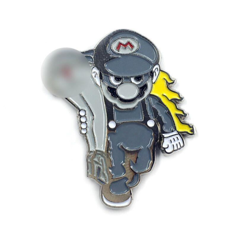 Mario Carrying Peach Sexy Kinky Enamel Pin Cartoon Heady Festival Hat and Lapel