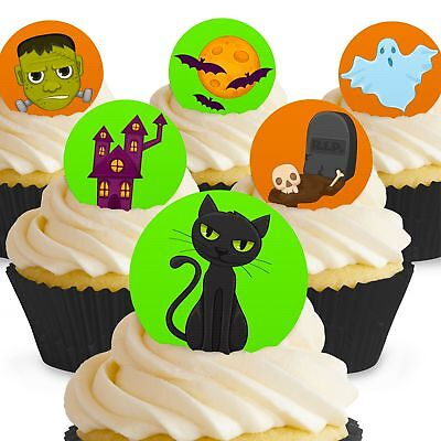 Kuchen Dekoration Halloween (Cakeshop 12 x Essbare Gruselige Halloween Kuchen Dekoration)
